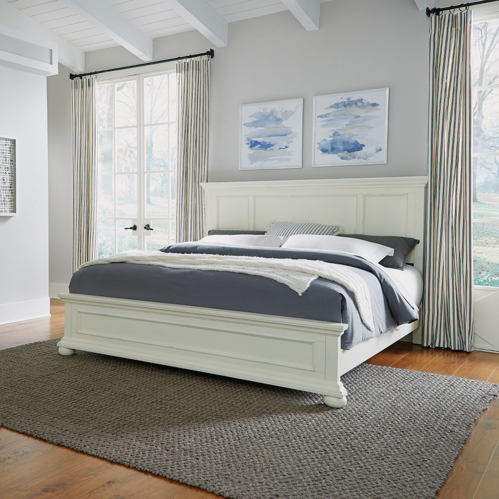 King Dover Bed White - Home Styles