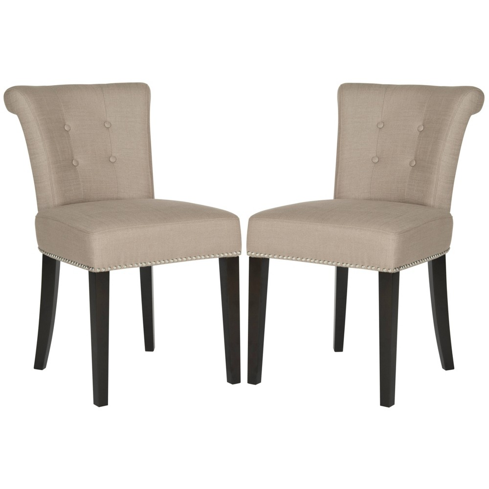 Sinclair Ring Chair Wood/Sand Stone (Set of 2) - Safavieh