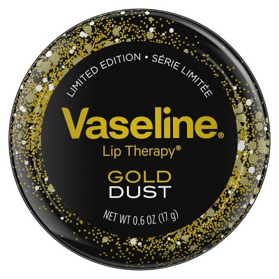 Vaseline Gold Dust Lip Tin - 0.6oz