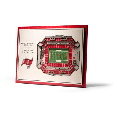 NFL Tampa Bay Buccaneers 5-Layer Stadiumviews 3D Wall Art