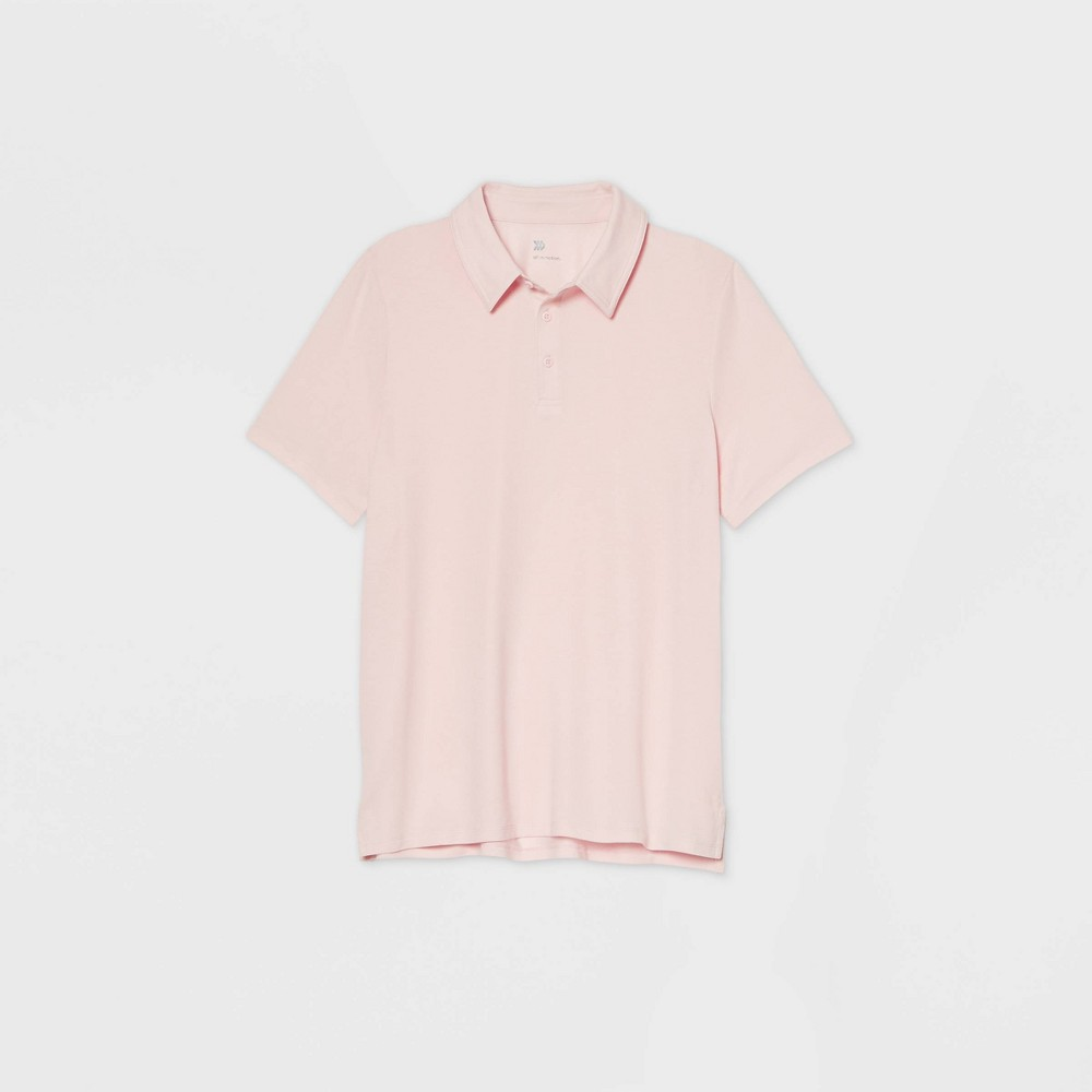 Men's Pique Golf Polo Shirt - All in Motion Pink XXL was $22.0 now $12.0 (45.0% off)
