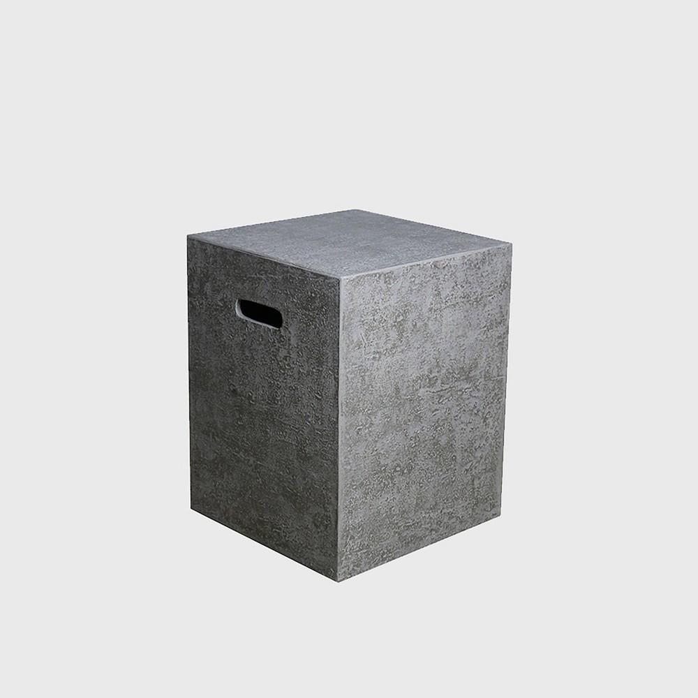 Image of Square Fiberglass Tank Cover - Gray - Modeno
