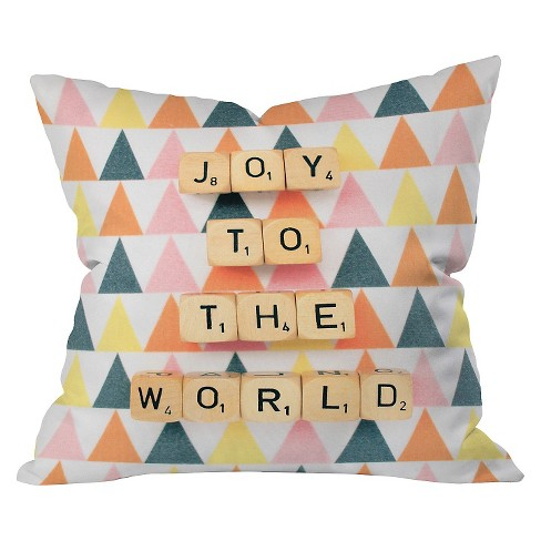 """20""""x20"""" Joy to the World Throw Pillow - Deny Designs - image 1 of 2"""