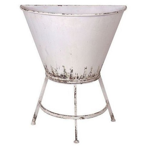 Metal Wall Planter On Stand White 3r Studios Target