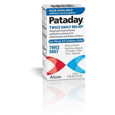 Pataday Twice Daily Eye Allergy Itch and Redness Relief Drops - 0.17 fl oz