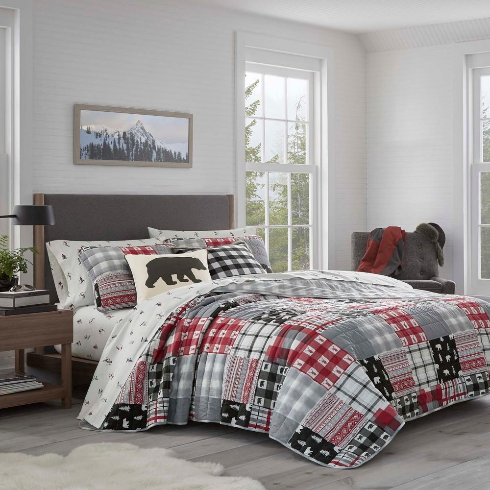 Image of Eddie Bauer King Mount Baker Quilt Set Red