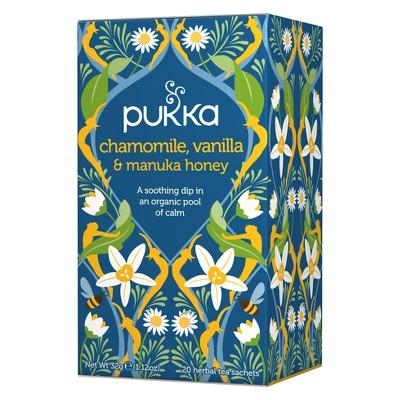 Pukka Chamomile, Vanilla & Manuka Honey Tea Bags - 20ct