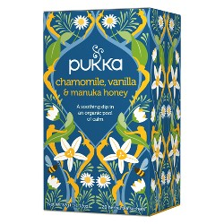 Pukka Chamomile, Vanilla & Manuka Honey Tea Bags - 20ct