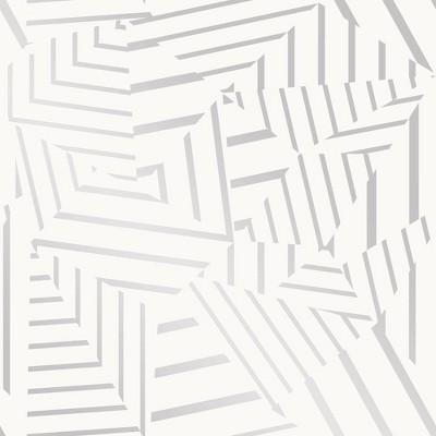 Tempaper Dazzle Self-Adhesive Removable Wallpaper White/Silver