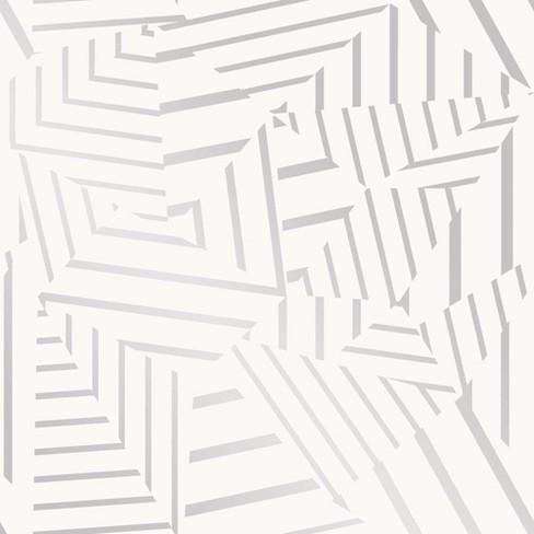 Tempaper Dazzle Self-Adhesive Removable Wallpaper White ...
