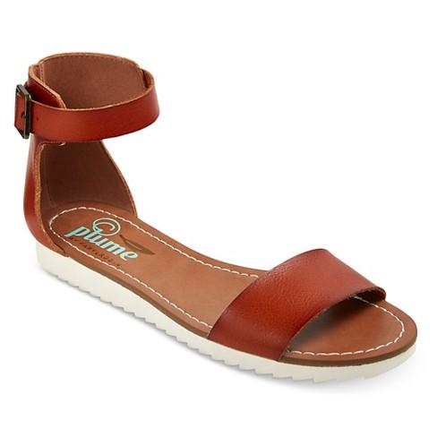 6b30f06d8b4d Women s Plume Sorsha Two Piece White Bottom Sandals - Cognac 11   Target