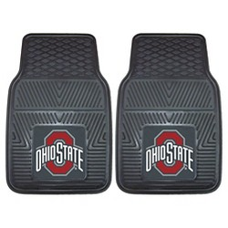 NCAA 2-pc Vinyl Car Mat Set
