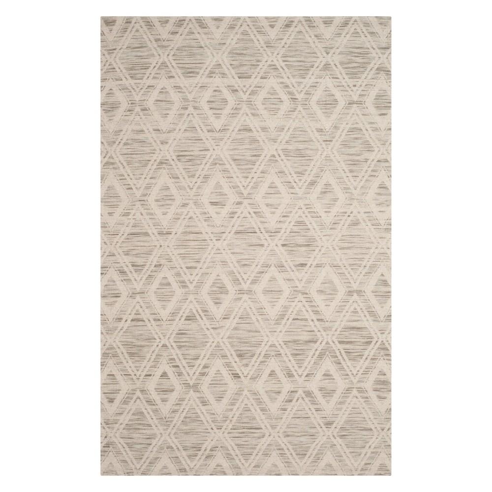 6'X9' Geometric Area Rug Light Brown/Ivory - Safavieh