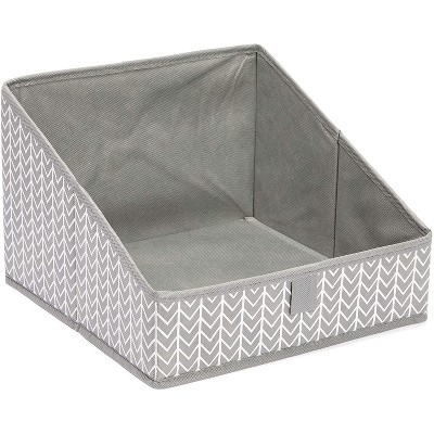 Juvale 3 Pack Non Woven Baskets, Closet Organization Bins for Home Storage (Grey, 11.4 x 11.4 x 7.9 in)