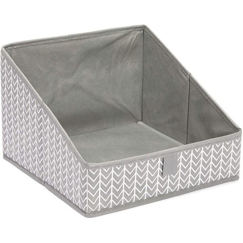 Juvale 3 Pack Non Woven Baskets, Closet Organization Bins for Home Storage (Grey, 11.4 x 11.4 x 7.9 in) - image 1 of 4