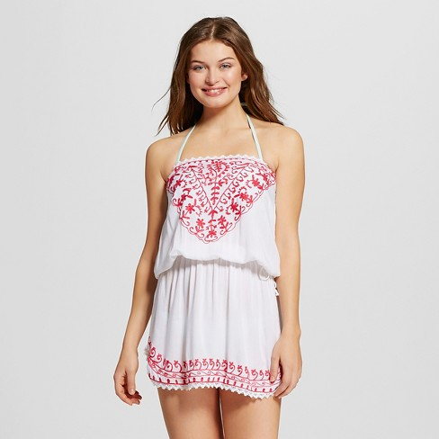 Womens Bandeau Crochet Dress White Mango Reef Target