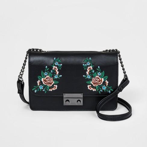 115146b5711ef Girls  Floral Print Crossbody Bag - Art Class™ Black   Target