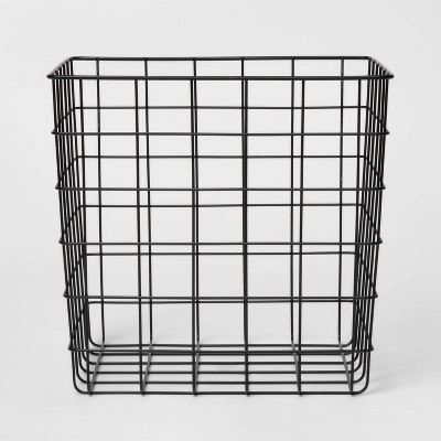 Decorative Baskets Steel Square Black - Room Essentials™