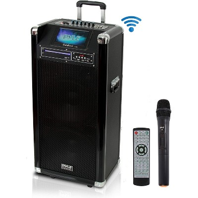 Pyle PKRK212 Versatile 1000 Watt Bluetooth Multimedia Vibe Karaoke Audio Entertainment System with Built In DVD Player and Wireless Microphone