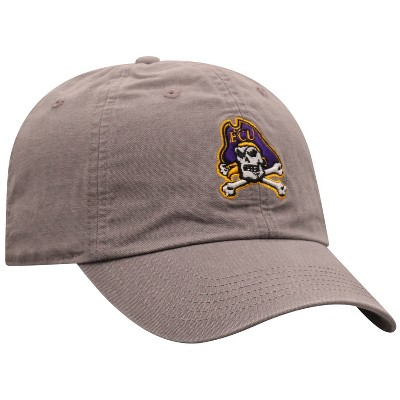 NCAA East Carolina Pirates Men's Gray Garment Washed Canvas Hat