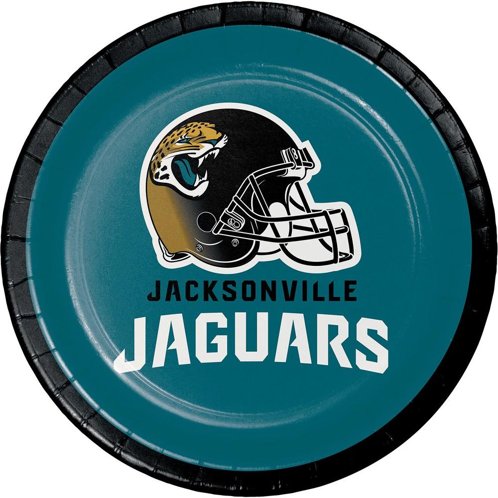 8ct Jacksonville Jaguars Dessert Plates, Multi-Colored
