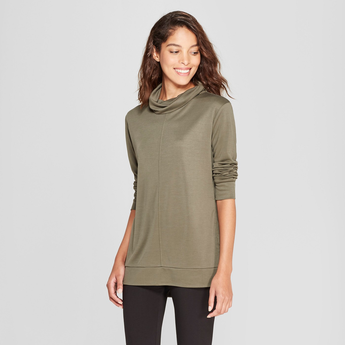 Women's Long Sleeve Cowl Neck Top - A New Day™ - image 1 of 3