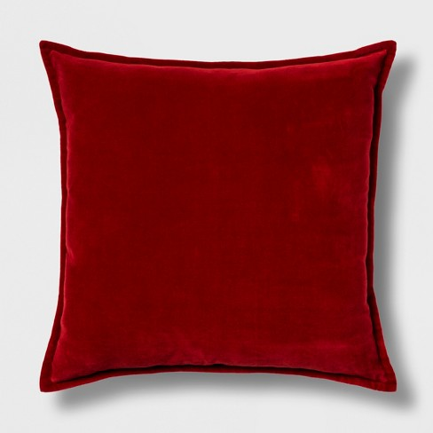 ff76e4d3c92 Solid Velvet Square Throw Pillow Reverse To Cotton Linen With Zipper ...