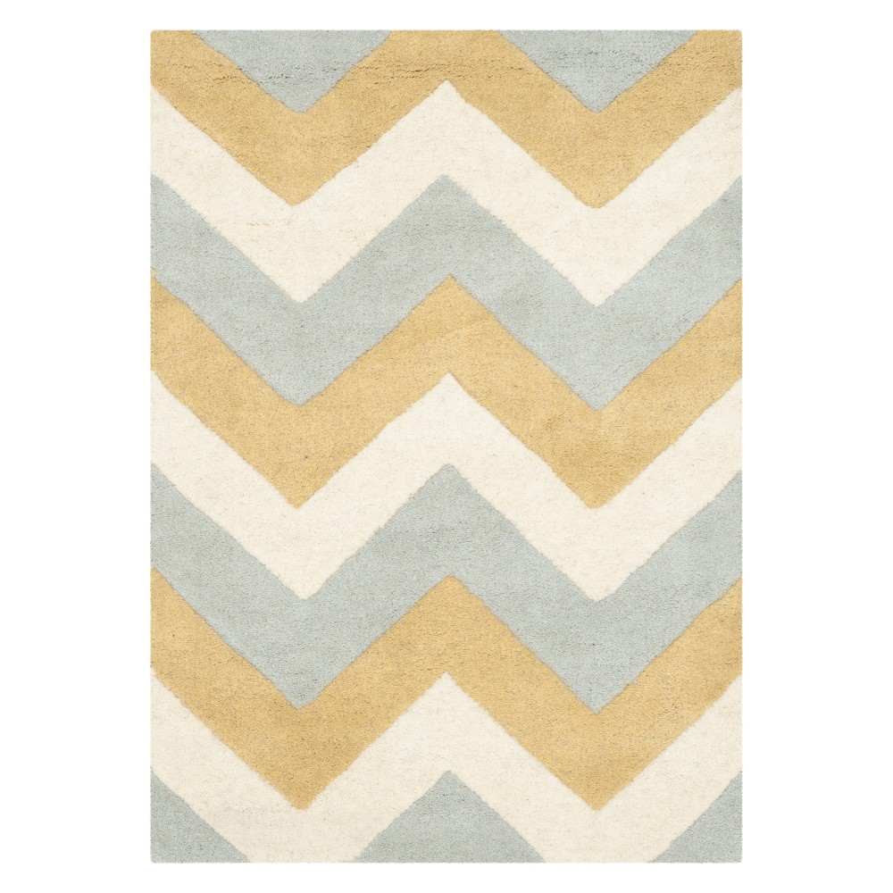 Best Buy GrayGold Classic Tufted Accent Rug 2X3 Safavieh