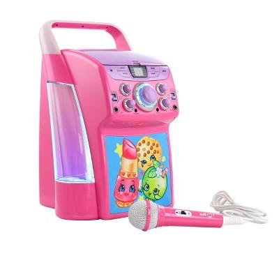 Shopkins Dancing Water Karaoke Machine with Microphone and Flashing Lights