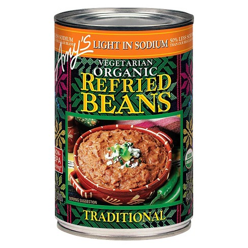Amy's® Vegetarian Organic Light in Sodium Traditional Refried Beans 15.4-oz. - image 1 of 1