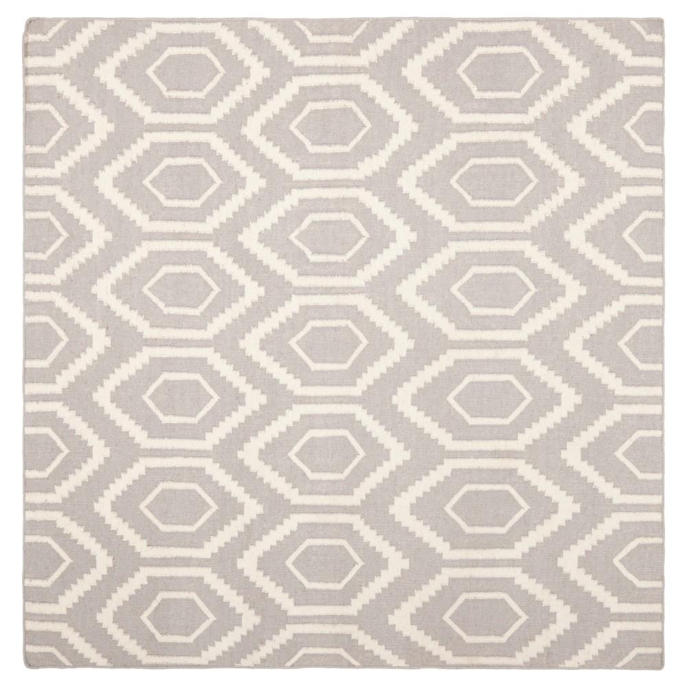 Cheap Taza Dhurry Rug - Gray Ivory - (6x6 Square) - Safavieh