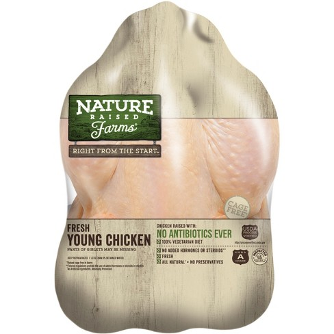 Nature Raised Farms Antibiotic Free Whole Young Chicken Price Per