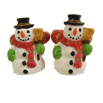 """Northlight 288ct Friendly Snowman Christmas Taper Candle Ring Set 1.37"""" - White/Red"""