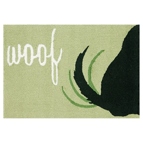 Frontporch Woof Green Rug - Liora Manne - image 1 of 1