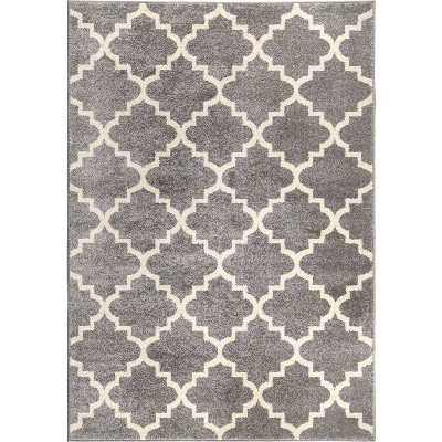 Sterling Gray Abstract Woven Area Rug - (5'3 X7'6 )- Orian