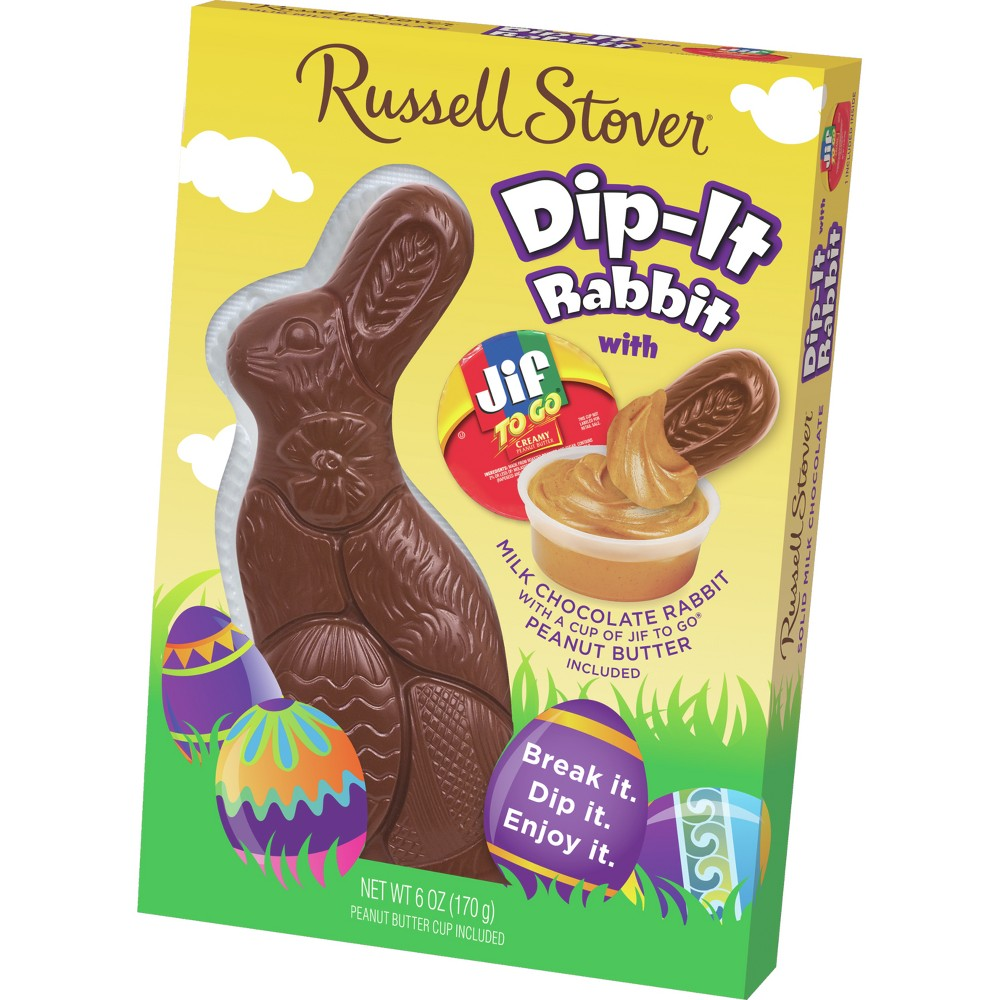 Russell Stover Easter Milk Chocolate Dip-It Rabbit - 6oz