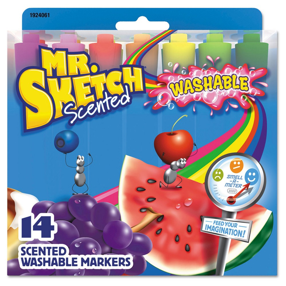Image of Mr. Sketch 14ct Markers, Chisel - Multi-Colored