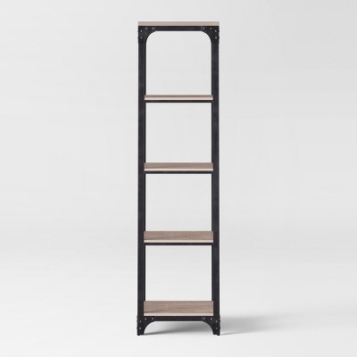 72  Franklin 5 Shelf Narrow Bookcase Gray - Threshold™