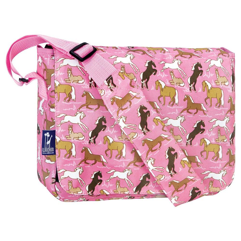 Wildkin Kickstart Messenger Bag Horses - Pink