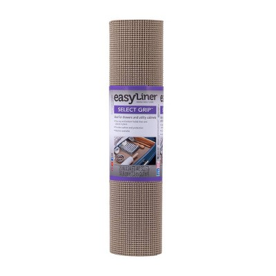 "Duck Select Grip EasyLiner Non Adhesive Shelf and Drawer Liner, 20"" x 24' Brownstone"