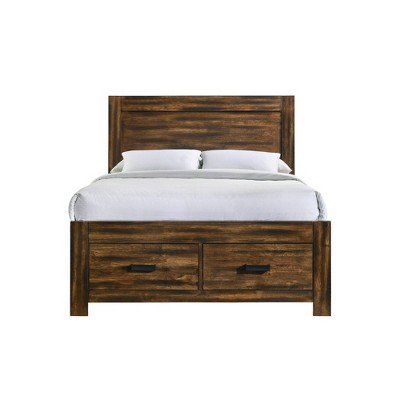 Wren Platform Storage Bed Chestnut - Picket House Furnishings