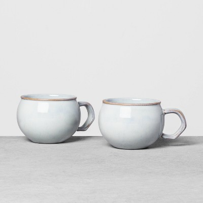 2pk Stoneware Reactive Mug Set Blue - Hearth & Hand™ with Magnolia