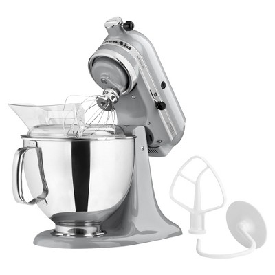 KitchenAid Artisan Series 5 Quart Tilt-Head Stand Mixer- Ksm150, Grey Grey