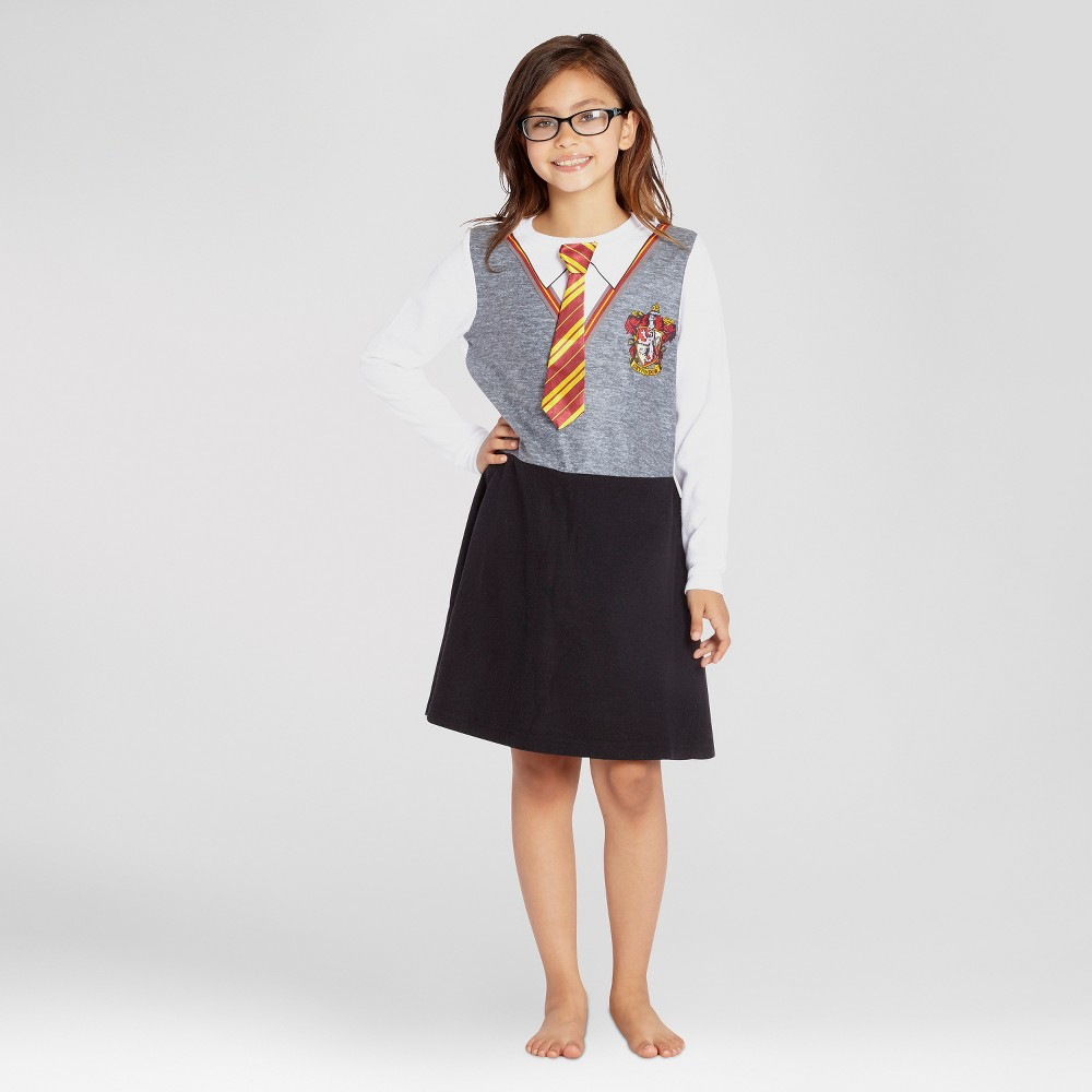 Girls' Harry Potter Gryffindor Long Sleeve Nightgown - M, Multicolored