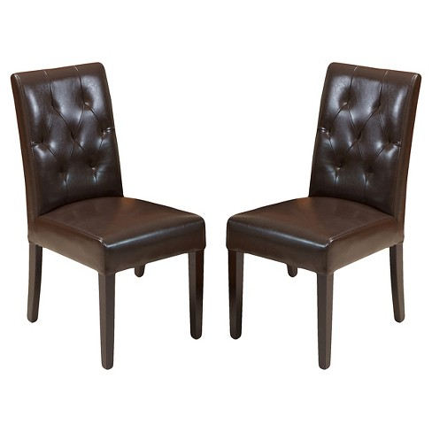 Gentry Bonded Leather Dining Chair (Set of 2) - Christopher Knight Home - image 1 of 4