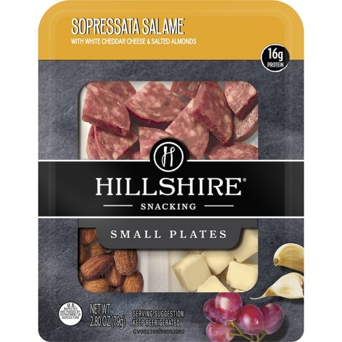 Hillshire Snacking Sopressata Salame with White Cheddar & Salted Almonds - 2.8oz - image 1 of 1