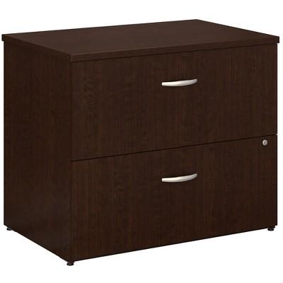 Bush Easy Office Mocha Cherry 36W 2 Drawer Lateral File EO101MRSU