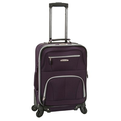 "Rockland Pasadena 19"" Expandable Spinner Carry On Suitcase"