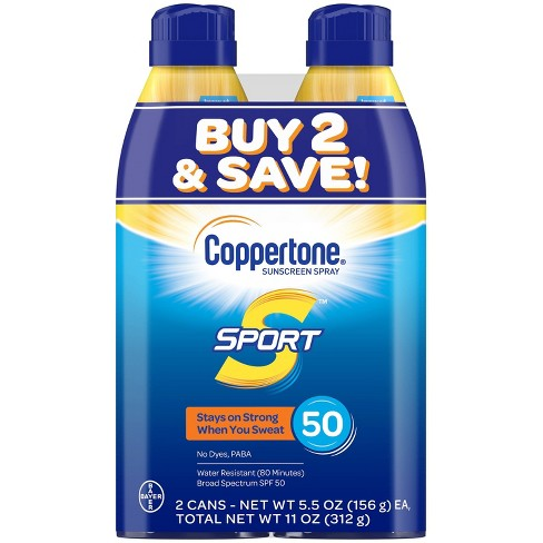 Coppertone Sport Sunscreen Spray - SPF 50 - 11oz - Twin Pack - image 1 of 4