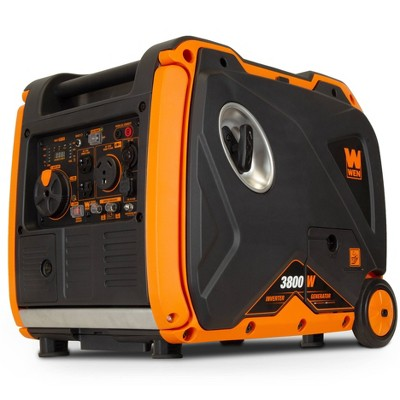 WEN 56380i Quiet 3800-W RV-Ready Portable Inverter Generator with Fuel Shut-Off and Electric Star
